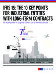 Mazars - IFRS 15 The 10 key points for industrial entities with long-term contracts - March 2016